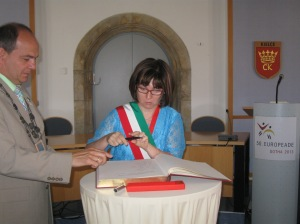Cristina Toso a Gotha, a fianco il Sindaco della città Knut Kreuch