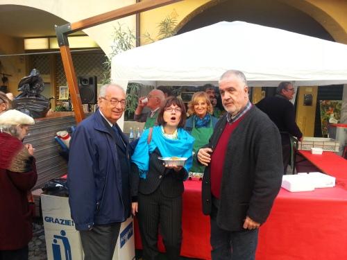 sono ad assaggiare Poenta e Renga in Ghetto a Padova con il Presidente del Vecia Padova - Antonio Tonnello (a sx) e Leonardo Amante Padovano eccellente